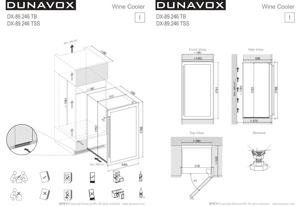 холодильники для вина схема встройки