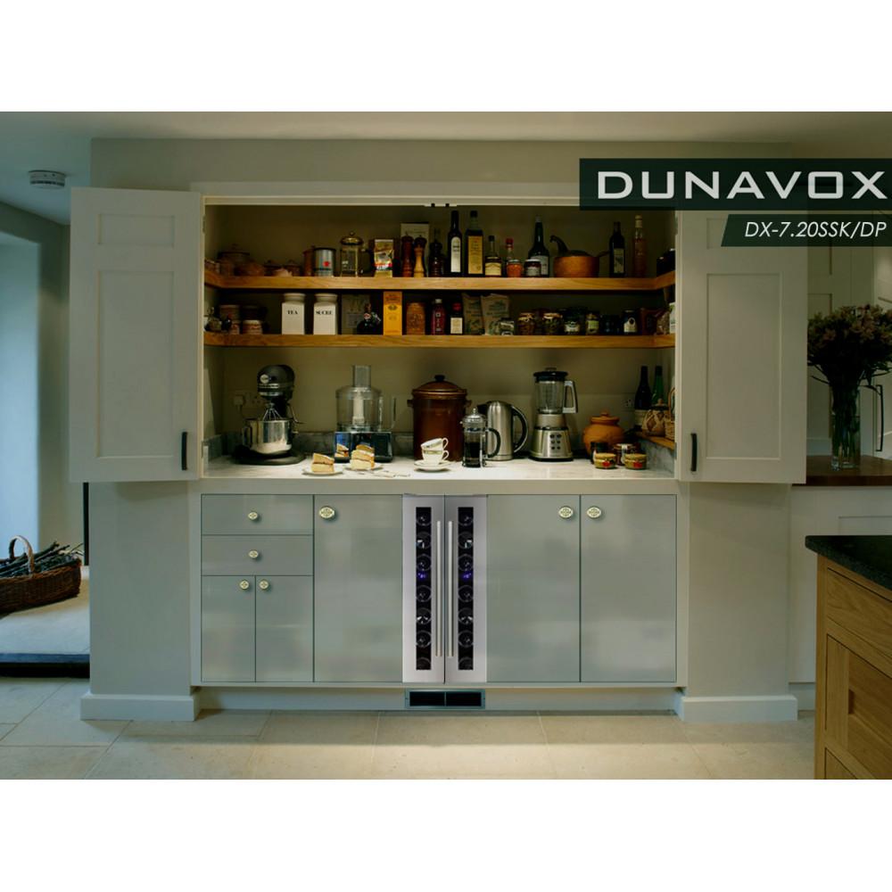 Узкий винный холодильник 15 + 15 см